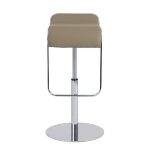 Freddy Adjustable Bar/Counter Stool in Taupe & Chrome design by Euro Style