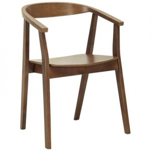 Greta Oak Timber Dining Chair, Cocoa