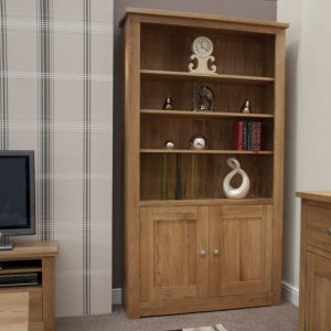 Homestyle Torino Oak 2 Door Bookcase