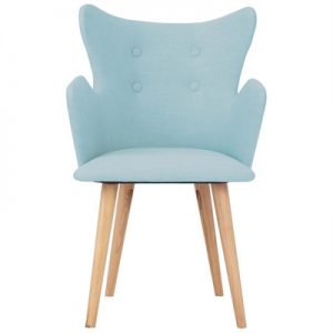 Kachina Fabric Dining Chair, Aquamarine / Natural