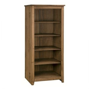 Pascal Wooden Open Shelves Bookcase In Pine