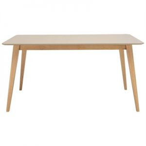 Platon Dining Table, 150cm, Taupe / Natural