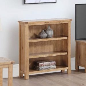 Trevino Low Bookcase In Oak With 2 Shelves
