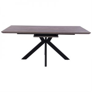 Trew Extendable Dining Table,180-220cm, Grey Oak