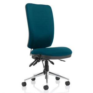 Chiro High Back Office Chair In Maringa Teal No Arms