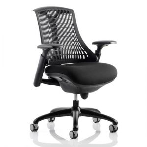 Flex Task Office Chair In Black Frame With Black Back
