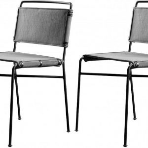 Gallery Direct Campaign Grey Dining Chair (Set of 2)