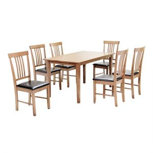 Massa Large Dining Set In Oak With 6 Chairs