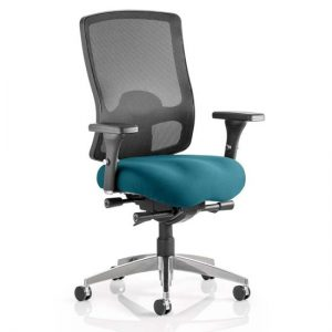 Regent Office Chair With Maringa Teal Seat And Arms