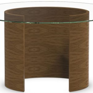 Tom Schneider Ellipse Small Glass Top Dining Table