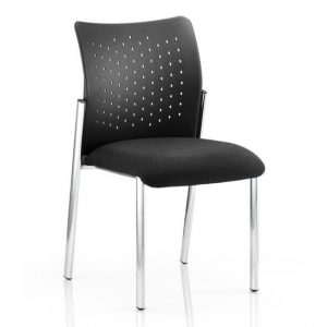 Academy Office Visitor Chair In Black No Arms
