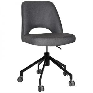 Albury Commercial Grade Gravity Fabric Gas Lift Office Chair, Slate / Black