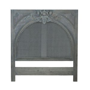 Caned King Headboard in Weathered Grey