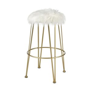 Charmed I'm Sure Bar Stool in Gold and White