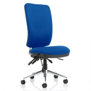Chiro Fabric High Back Office Chair In Blue No Arms
