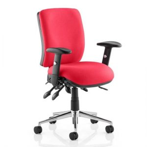 Chiro Medium Back Office Chair In Bergamot Cherry With Arms