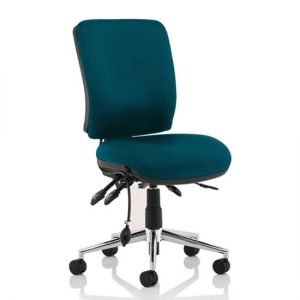 Chiro Medium Back Office Chair In Maringa Teal No Arms
