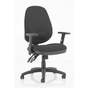 Eclipse Plus XL Office Chair In Black With Adjustable Arms