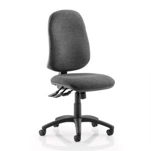Eclipse Plus XL Office Chair In Charcoal No Arms