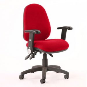 Luna II Office Chair In Bergamot Cherry With Folding Arms