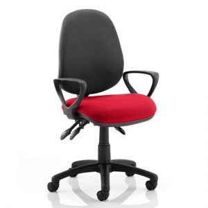 Luna III Office Chair With Bergamot Cherry Seat Loop Arms