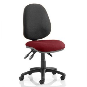 Luna III Office Chair With Ginseng Chilli Seat No Arms