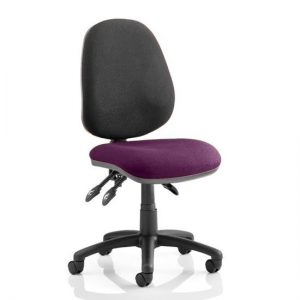 Luna III Office Chair With Tansy Purple Seat No Arms