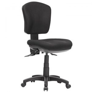 Aqua Fabric Task Office Chair, Low Back