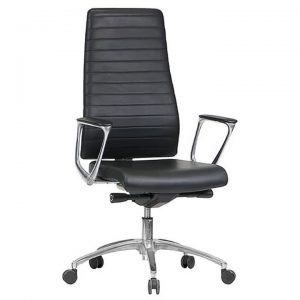 Enzo PU Leather Executive Office Chair, High Back