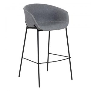 Fridu Fabric Bar Stool, Grey