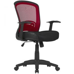 Intro Fabric Task Office Chair, Red / Blak