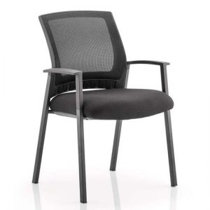 Metro Black Back Office Visitor Chair With Black Seat