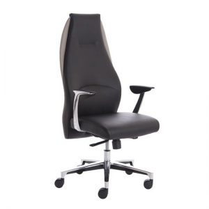 Mien Leather Executive Office Chair In Black And Mink