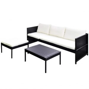 Outdoor Sofa Set Poly Rattan (9 Pcs)