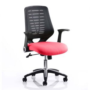 Relay Task Black Back Office Chair With Bergamot Cherry Seat