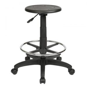 State Industrial Drafting Stool, Round Seat, Lever Handle, 49-66.5cm