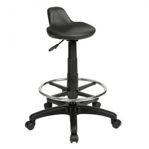 State Industrial Drafting Stool, Saddle Seat, 49.5-67cm