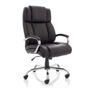 Texas HD Leather Executive Office Chair In Black
