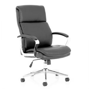 Tunis Leather Executive Office Chair In Black