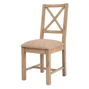 Tuscanspring Reclaimed Timber Dining Chair, Fabric Seat