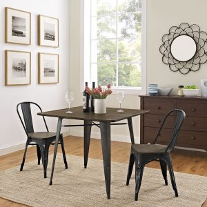 """Alacrity 36"""" Square Wood Dining Table in Brown"""