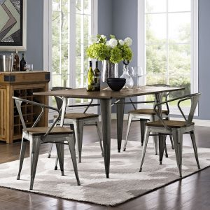 "Alacrity 59"" Rectangle Wood Dining Table in Brown"