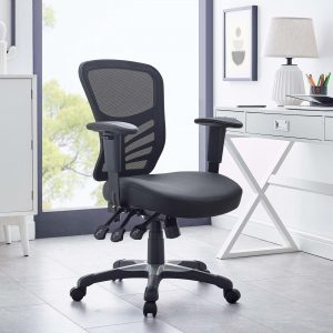 Articulate Vinyl Office Chair in Black