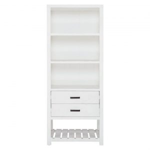 Ina Bookcase Size W 80cm x D 50cm x H 200cm in Distressed White Freedom