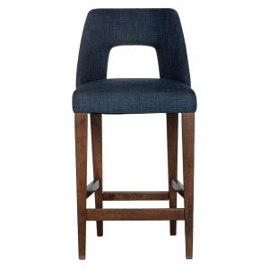 Neighbourhood Counter Stool, Navy Size W 48cm x D 59cm x H 103cm in Navy Blue Freedom