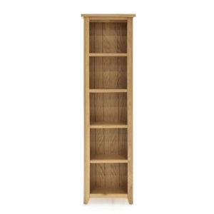 Ramore Slim Wooden Bookcase In Natural