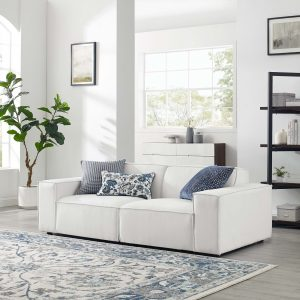 Restore 2-Piece Sectional Sofa in White