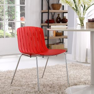 Trace Dining Side Chair in Red