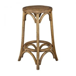 Brion Elm Timber Counter Stool, Oak