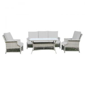 Carpio 4 Piece Wicker Outdoor Lounge Set